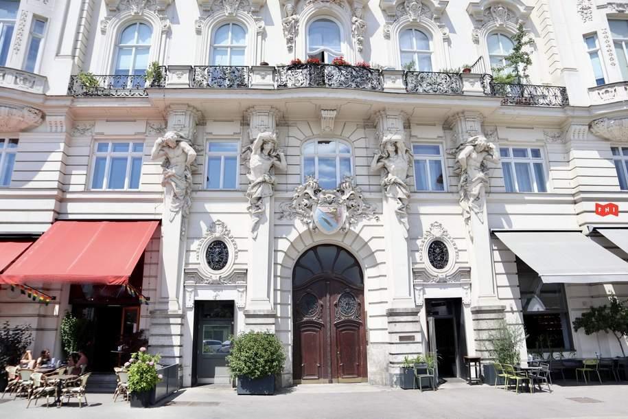 Helles Altbau-Büro direkt am Naschmarkt, Gewerbeobjekt-miete, 13,50,€, 1060 Wien 6., Mariahilf