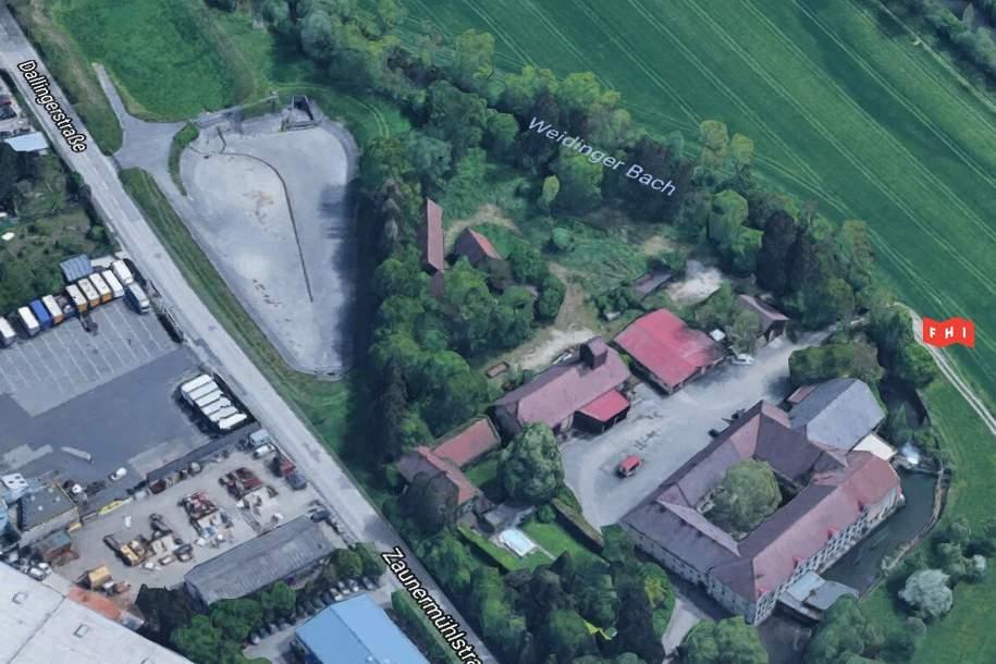 Betriebsgrundstück nähe A1-Drehkreuz beim Gewerbepark Franzosenhausweg (OÖ Traun/Linz), Grund und Boden-legalform.pacht, 6.600,00,€, 4050 Linz-Land