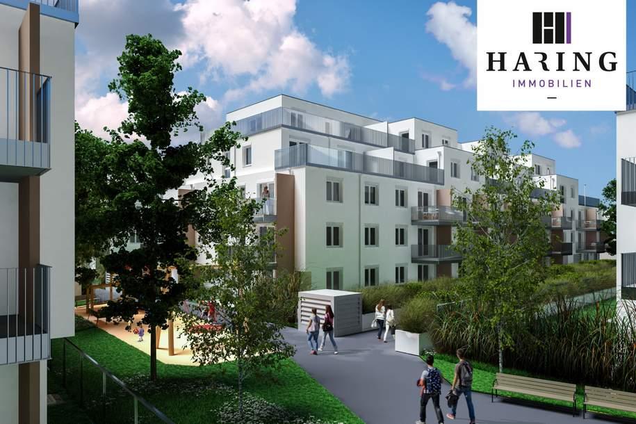 Dachterrassenwohnung inkl hochwertiger Küche und Kellerabteil - Garagenstellplätze vorhanden //ALF46-65 DG2, Wohnung-miete, 969,00,€, 1220 Wien 22., Donaustadt