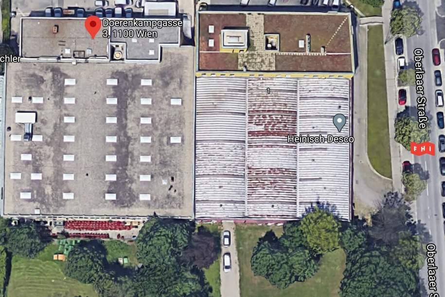 Betriebsliegenschaft mit multifunktionaler Lagerhalle & Bürotrakt im Gewerbegebiet Oberlaa (U1 Neulaa), Gewerbeobjekt-miete, 3,89,€, 1100 Wien 10., Favoriten